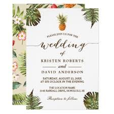 hawaiian themed wedding invitations luau hawaiian rustic bridal shower card zazzle