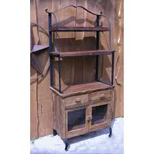Bakers Rack Console Groovystuff Teak Wood Bakers Rack U0026 Cabinet Tf 334