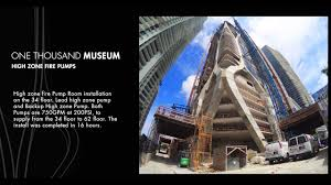 one thousand museum one thousand museum high zone fire pumps installation youtube