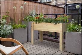 Bench For Balcony Small Table Raised Garden Beds Perfect For Balcony And Terrace