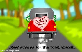 wedding wishes new journey for the newly married free just married ecards greeting cards