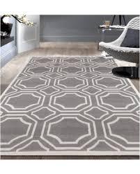 deal alert modern geometric grey area rug 7 u00276 x 9 u00275 9103 gray