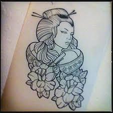 geisha outline tattoo design 2 tattoos book 65 000 tattoos designs