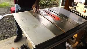 Bench Top Table Saws How To Clean A Rusty Table Saw Youtube