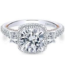 cushion engagement rings gabriel amavida 18k white gold cushion halo diamond engagement ring