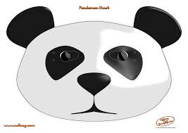 Halloween Masks Coloring Pages by Panda Mask Template Contegri Com