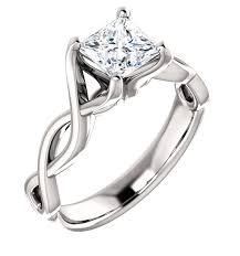 infinity engagement rings 0 75 carat platinum princess cut infinity diamond engagement ring