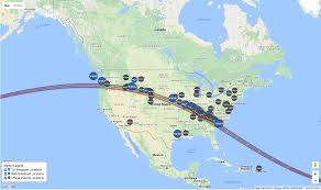 Time Map Eclipse 2017 When Is The Total Solar Eclipse In Your Area Time