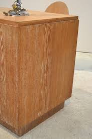 Bureaux Anciens Brocante Ancien Bureau Art Déco En Chêne Cérusé Fiche Table U0026 Petite Table