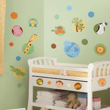 new jungle animals polka dots wall decals baby nursery stickers new jungle animals polka dots wall decals baby nursery stickers animal decor ebay