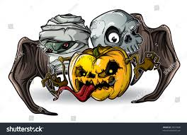 Cartoon Halloween Monsters Halloween Monsters Isolation Stock Vector 39237838 Shutterstock