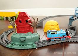 Thomas The Train Table And Chair Set Thomas U0026 Friends Trackmaster Playdate Happiness Is Homemade