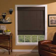 lovely roman blinds onsliding glass doors with brown fabric