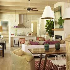 small open plan living