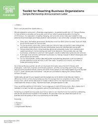 business partnership announcement letter sample designed by