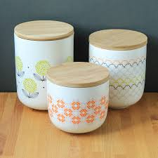 Wooden Kitchen Canisters Tea Coffee U0026 Sugar Storage Jars 3 Piece Set Bread Bins Jars