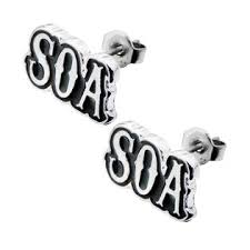surgical steel stud earrings sons of anarchy soa logo surgical steel stud earrings