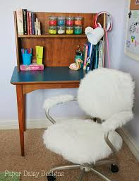 White Chair Desk by White Furry Desk Chair 143 Cute Interior And Frenzy Office Chair