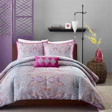 Pink And Grey Comforter Set Paisley Grey U0026 Pink U0027s Bedding Twin Xl Full Queen