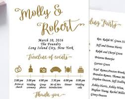 wedding program wording wedding programs etsy