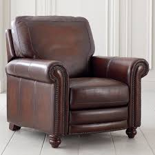 Recliner Chair Old World Brown Leather Recliner