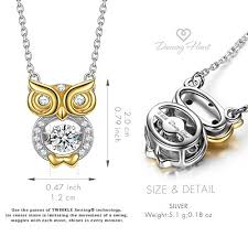 owl necklace silver images Dancing heart bird of wisdom 925 sterling silver owl animal jpg
