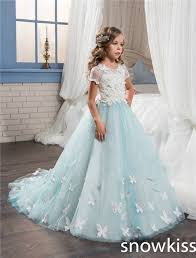 vintage communion dresses 2017 sky blue vintage communion dress with lace appliques