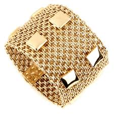 gold bracelet hermes images Hermes collier de chein mesh gold bracelet opulent jewelers jpg