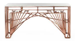 60 inch console table in the details turning standard copper tubing into a gaudi esque