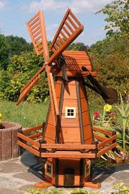 decorative 1 2m high style windmill made of coated wood with