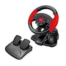 gaming steering wheel esperanza gaming steering wheel accelerator brake pedal black