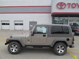 2005 jeep unlimited 2005 light khaki metallic jeep wrangler unlimited rubicon sahara