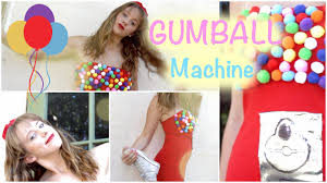 how to sday diy gumball machine costume from a t shirt and pom