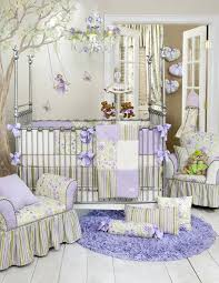 Fancy Crib Bedding Viola 4 Pc Glenna Jean Crib Baby Nursery Bedding Set New