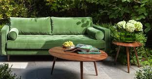Tufted Sofa Velvet by Green Velvet Tufted Sofa Upholstered Article Sven Modern