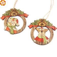 online shop 10pcs creative christmas wooden pendants ornaments