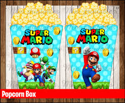 80 sale mario bros popcorn boxes instant download printable