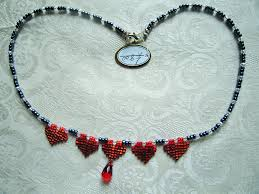heart bead necklace images Red heart necklace bead shop leeds png