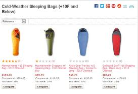 Comfort Rating Sleeping Bag Cold Weather Sleeping Bags Jpg
