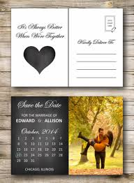 postcard save the date save the date postcard printable or printed chalkboard cale
