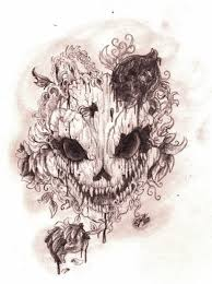 skull with roses and thorns by pridealchemist7 on deviantart