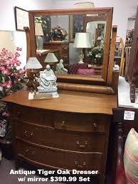 Antique Tiger Oak Dresser With Mirror by Moyers Furniture Store