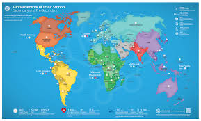 Map Of The Whole World by Jesuit Networking U2013 The 2017 Global Jesuit Schools Map Is Here