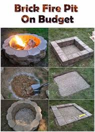 How To Make A Backyard Fire Pit Cheap - best 25 outdoor fireplace brick ideas on pinterest whitewashed