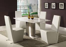 contemporary formal dining room furniture large white opaque