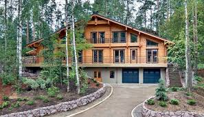 Two Story Log Homes by Prefab House Contemporary Energy Efficient Two Story Honka