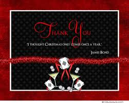 bond mission thank you card suave party cocktails