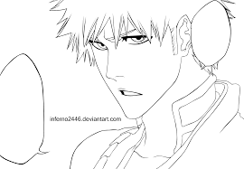 ichigo coloring pages bleach anime coloring pages pictures 8076