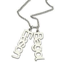 childrens name necklace necklace name necklace custom vertical