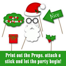 christmas photo booth props printable christmas photo booth props and banner includes 30